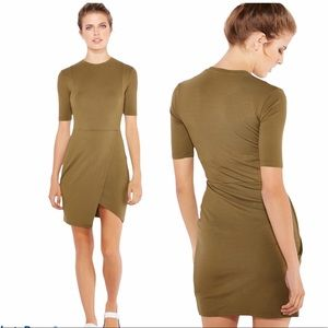 Top Shop Wrap Front Mini Dress Green Size 2